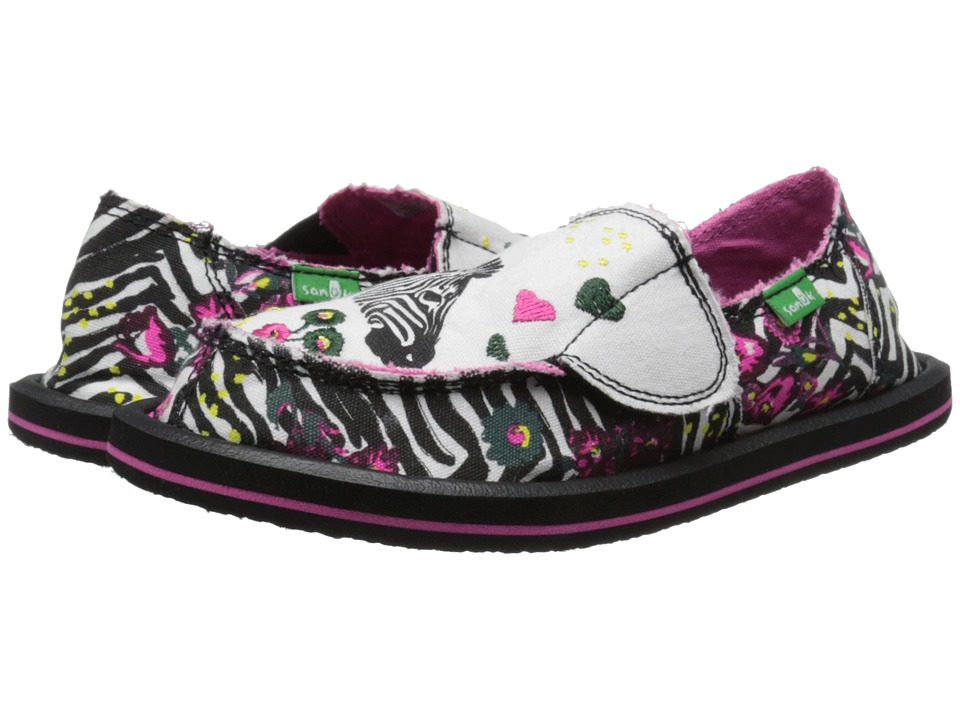 Sanuk Kids - Scribble II (Toddler/Little Kid) (Zebra Floral) Girls Shoes