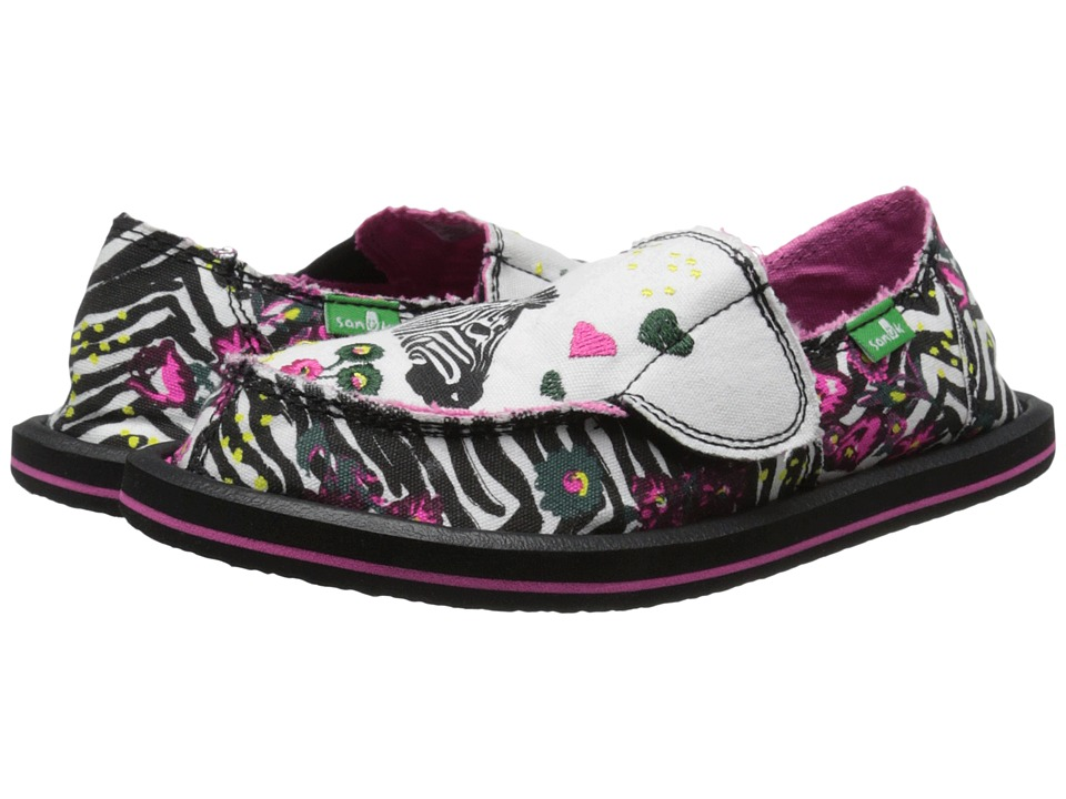 Sanuk Kids - Scribble II (Little Kid/Big Kid) (Zebra Floral) Girls Shoes
