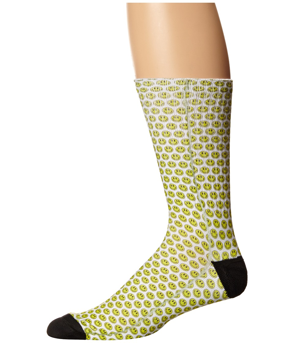 HUF - Dime Bag Crew Sock (Smiley) Crew Cut Socks Shoes