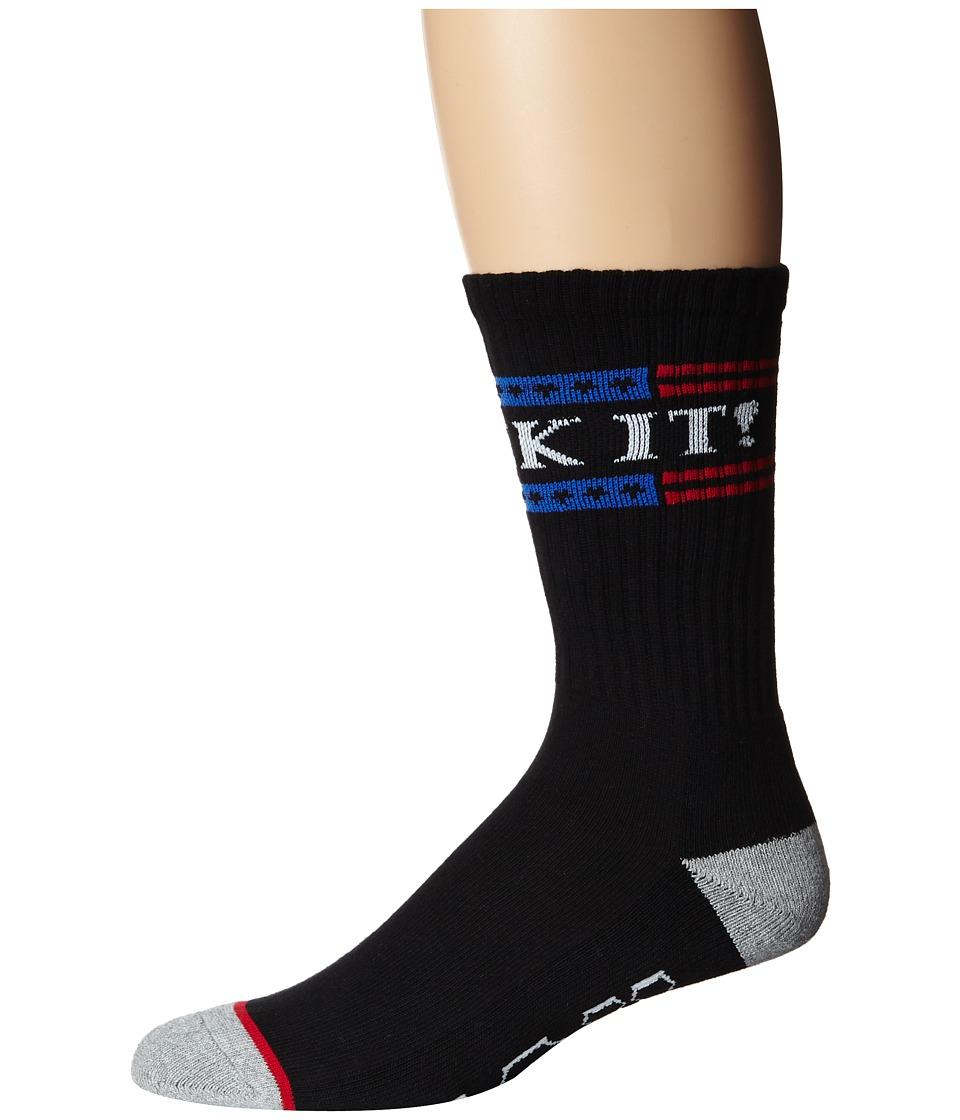 HUF - F*** It Crew Sock (Black) Crew Cut Socks Shoes