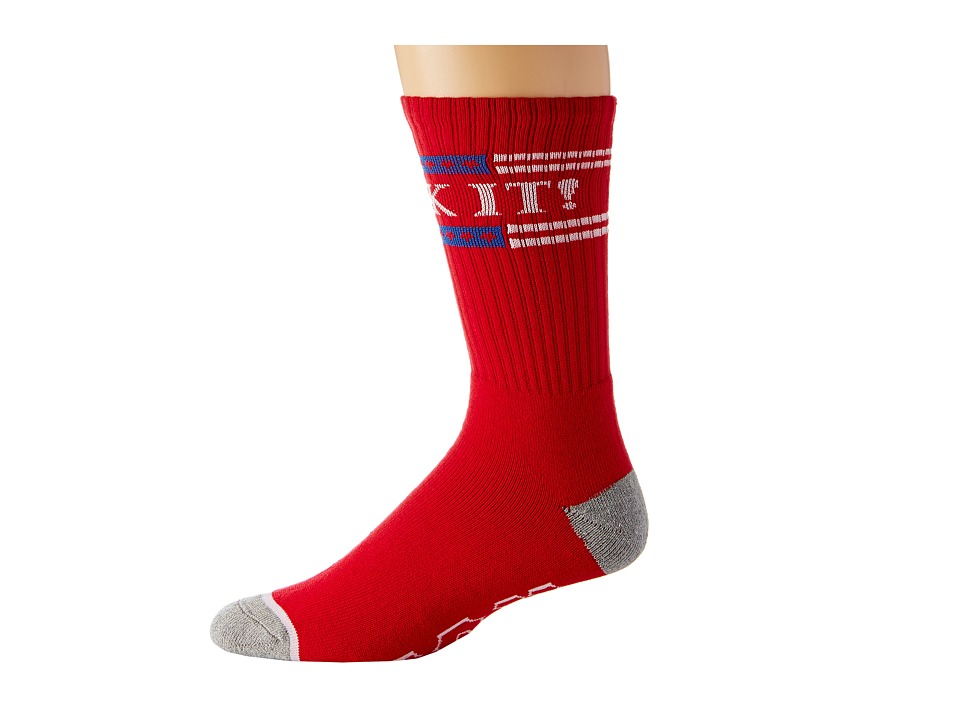HUF - F*** It Crew Sock (Red) Crew Cut Socks Shoes