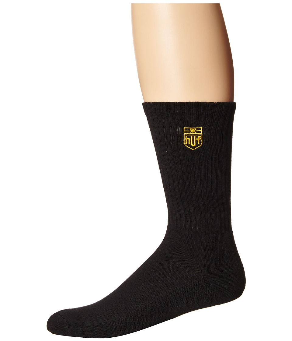 HUF - Delivery Crew Sock (Black) Crew Cut Socks Shoes