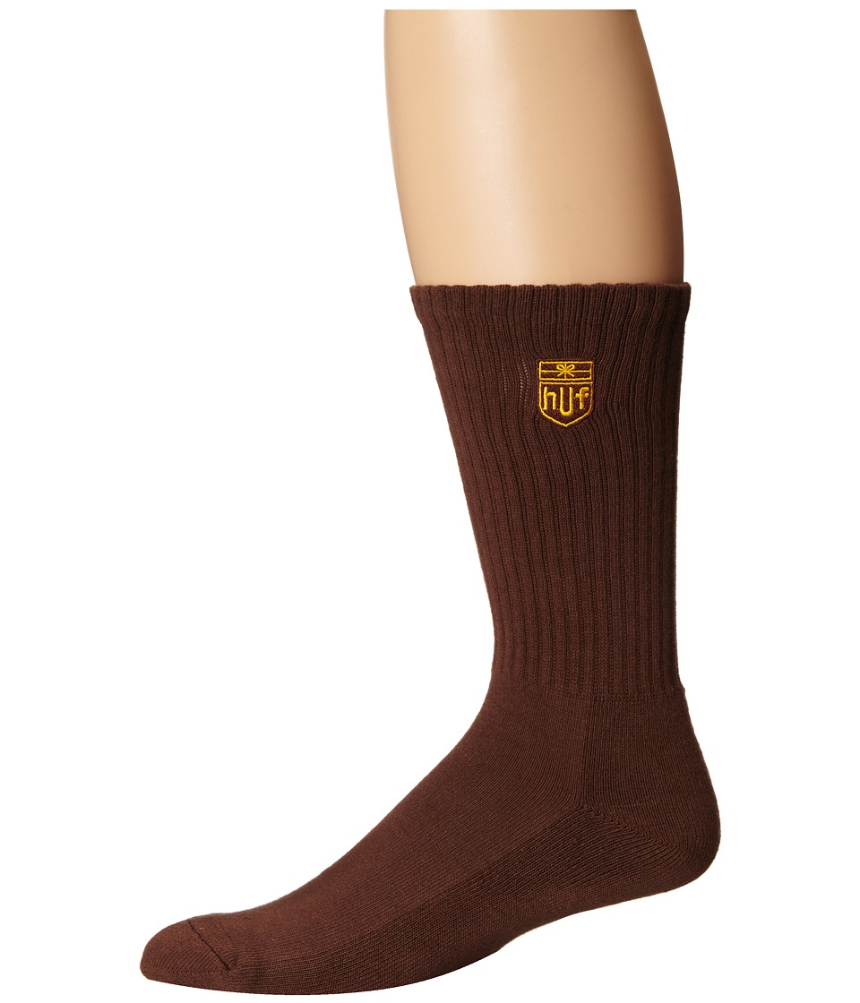 HUF - Delivery Crew Sock (Brown) Crew Cut Socks Shoes