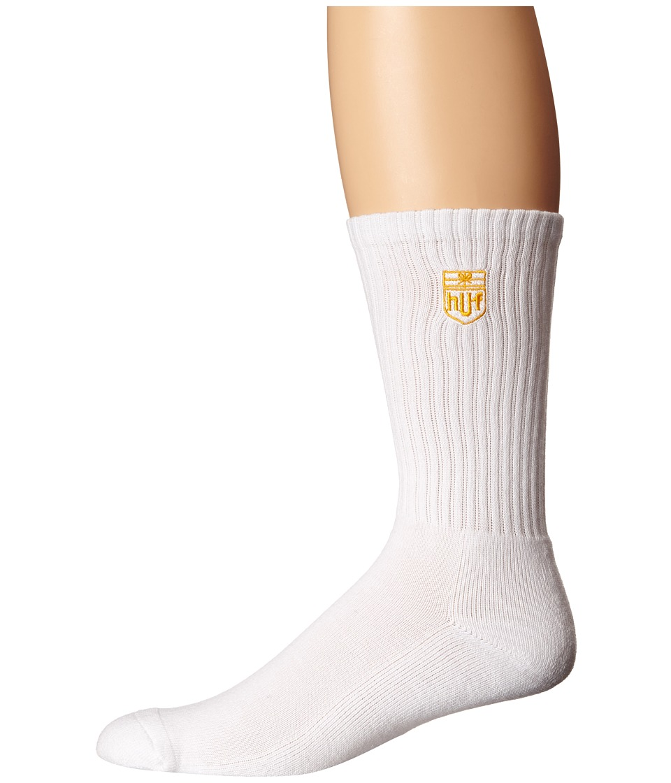 HUF - Delivery Crew Sock (White) Crew Cut Socks Shoes