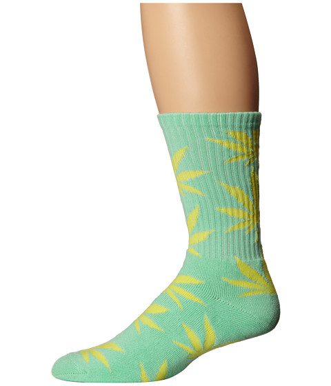 HUF - Plantlife Crew Sock (Seafoam/Yellow) Crew Cut Socks Shoes