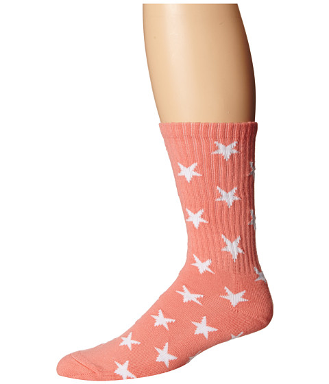 HUF - Stars Sock (Salmon) No Show Socks Shoes