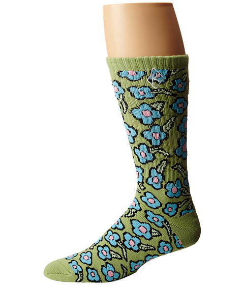 HUF - Huf X Krooked Flowers Sock (Seafoam) No Show Socks Shoes
