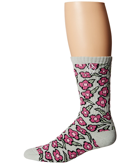 HUF - Huf X Krooked Flowers Sock (Taragon) No Show Socks Shoes