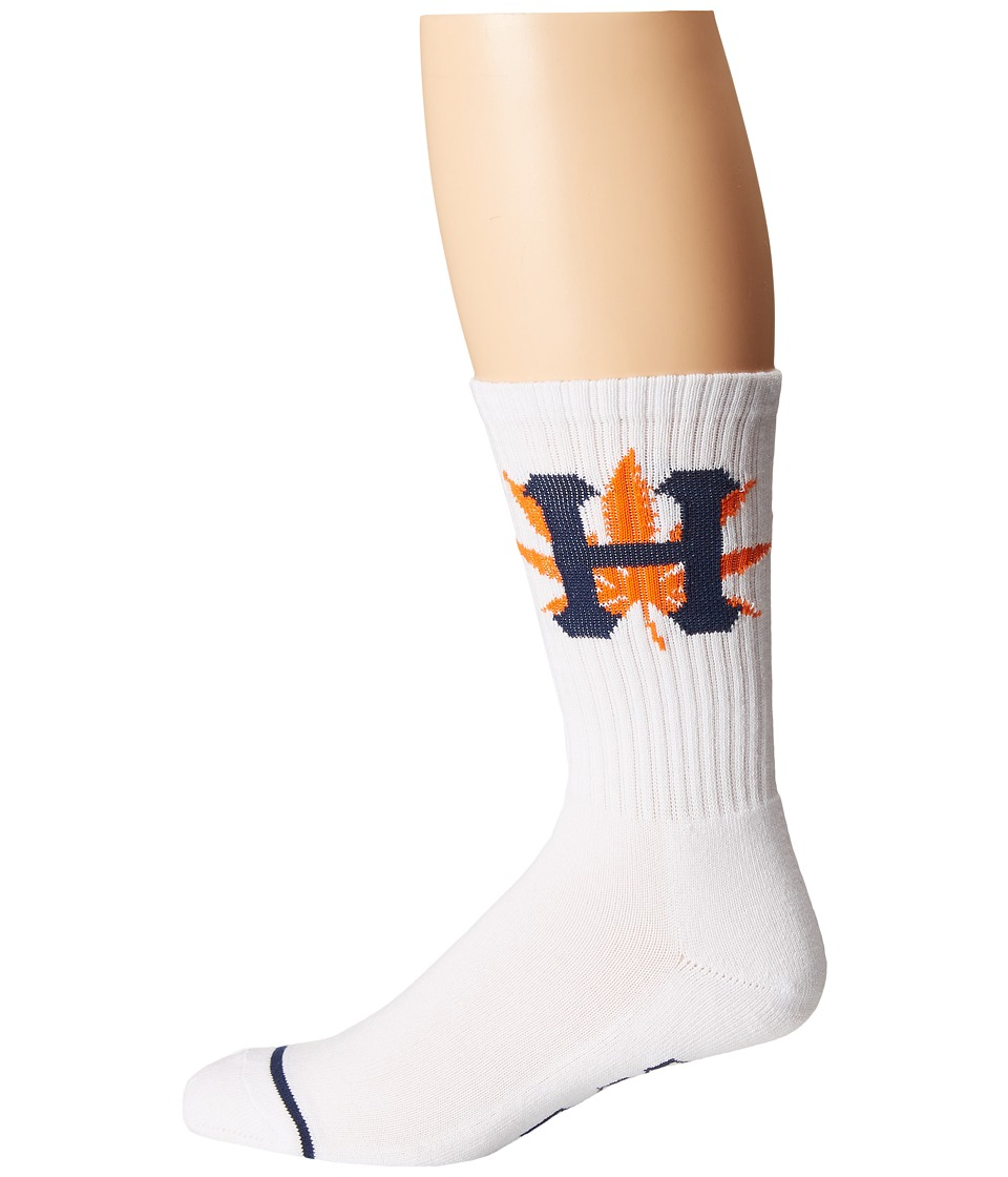 HUF - H-Town Crew Sock (White) Crew Cut Socks Shoes