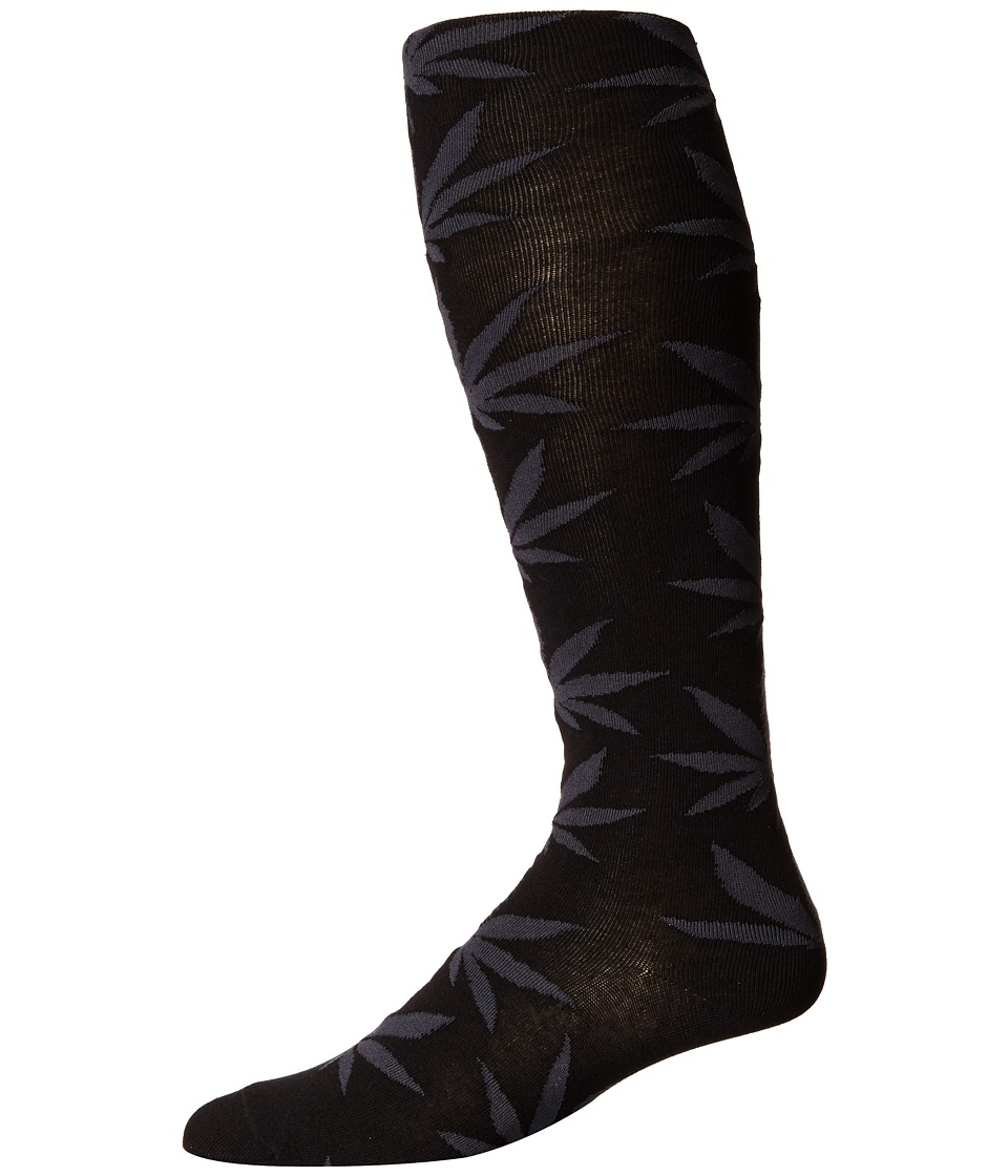 HUF - Plantlife Thigh Highs (Black) Thigh High Socks Shoes