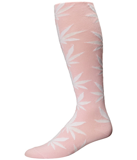 HUF - Plantlife Thigh Highs (Pink) Thigh High Socks Shoes