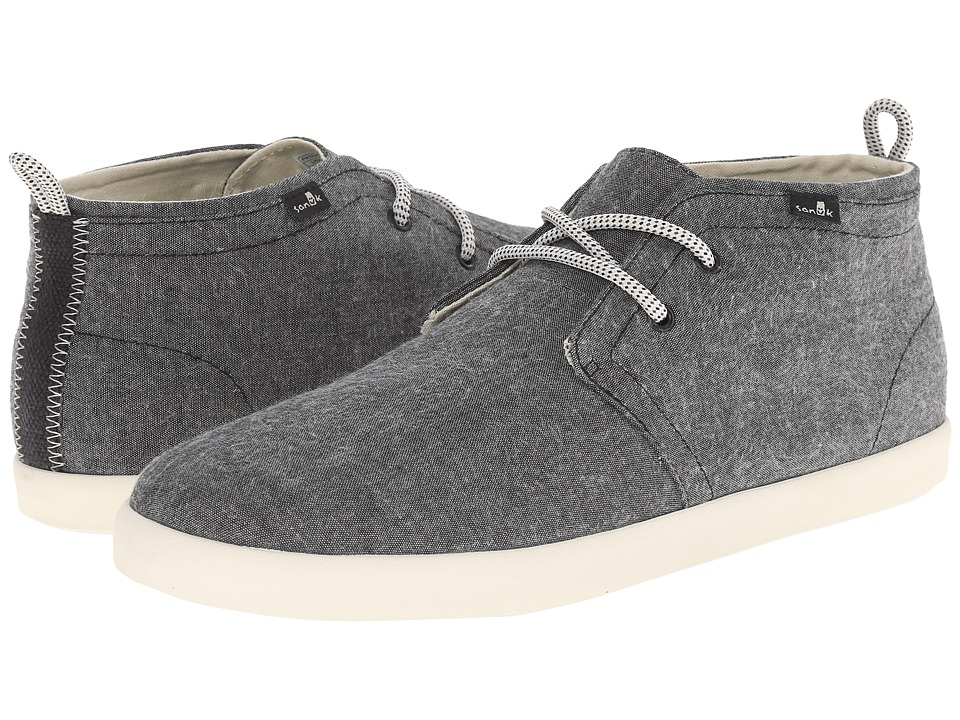 Sanuk - Cargo TX (Black Chambray) Men's Lace up casual Shoes