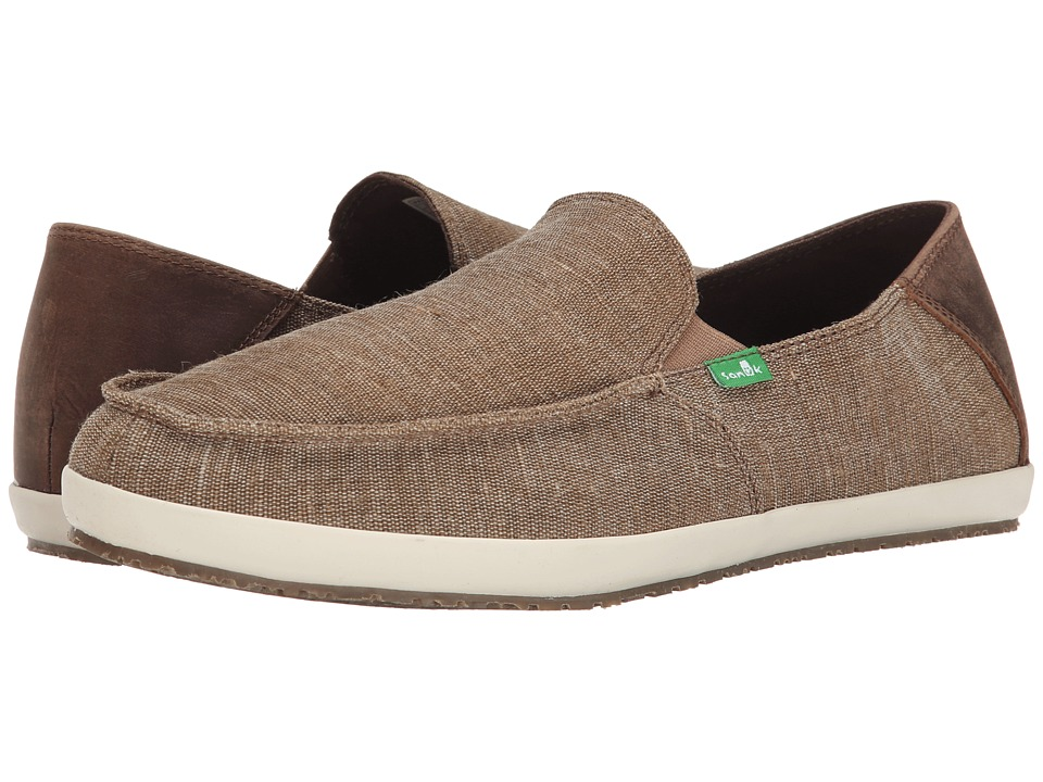 Sanuk - Casa Vintage (Brown) Men's Slip on Shoes