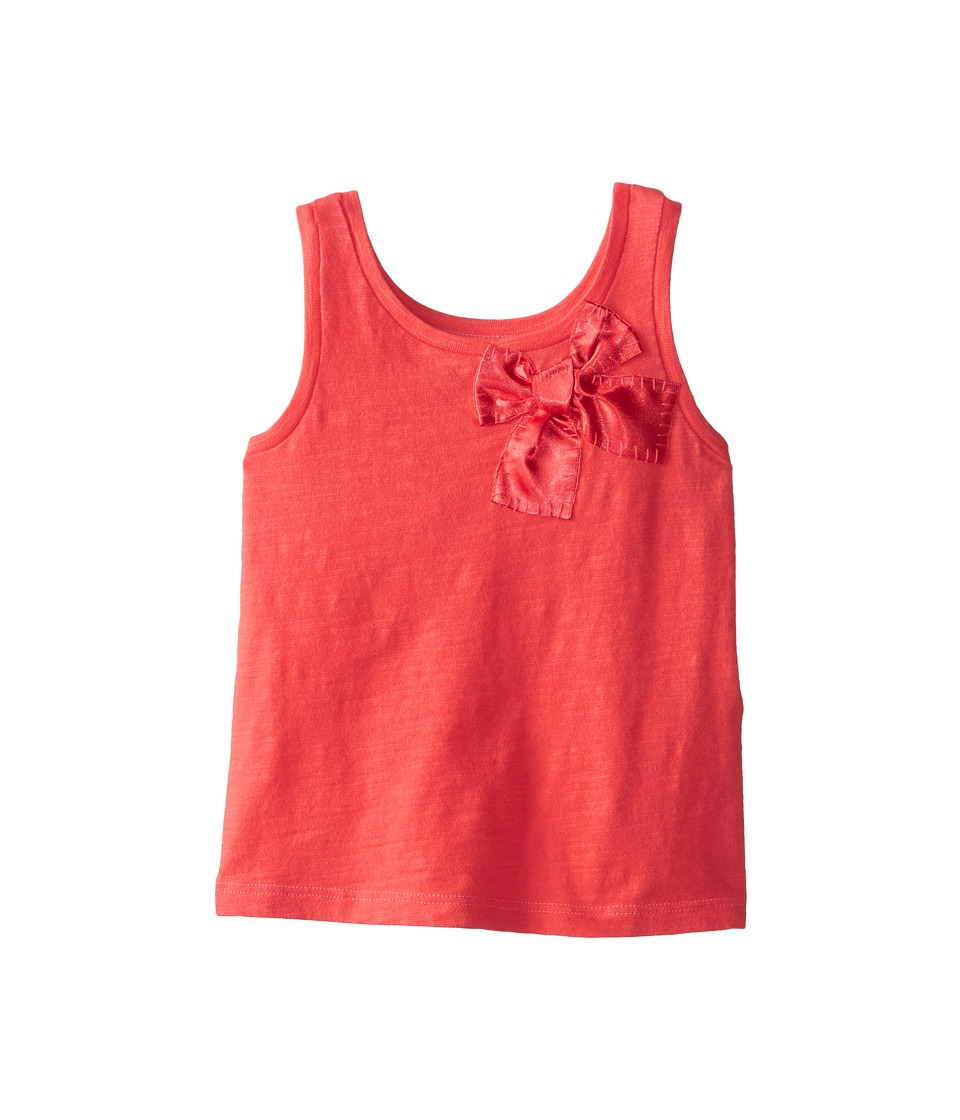 Kate Spade New York Kids - Satin Bow Tank Top (Toddler/Little Kids) (Geranium) Girl's Sleeveless