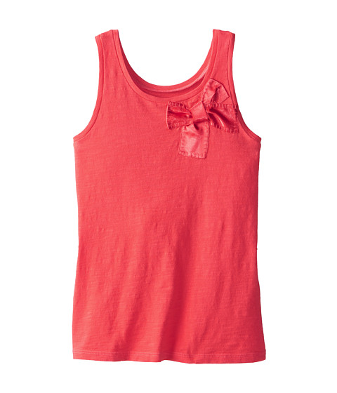 Kate Spade New York Kids - Satin Bow Tank Top (Big Kids) (Geranium) Girl's Sleeveless