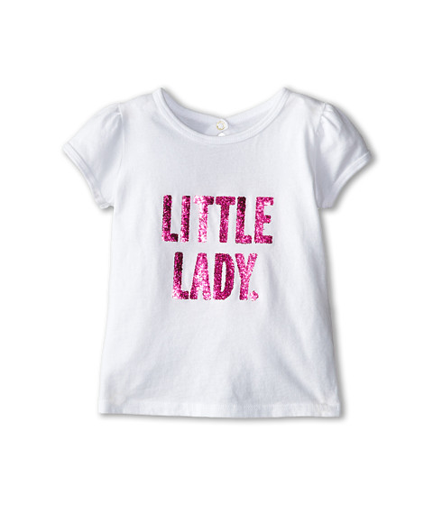 Kate Spade New York Kids - Little Lady Tee (Toddler/Little Kids) (Fresh White) Girl