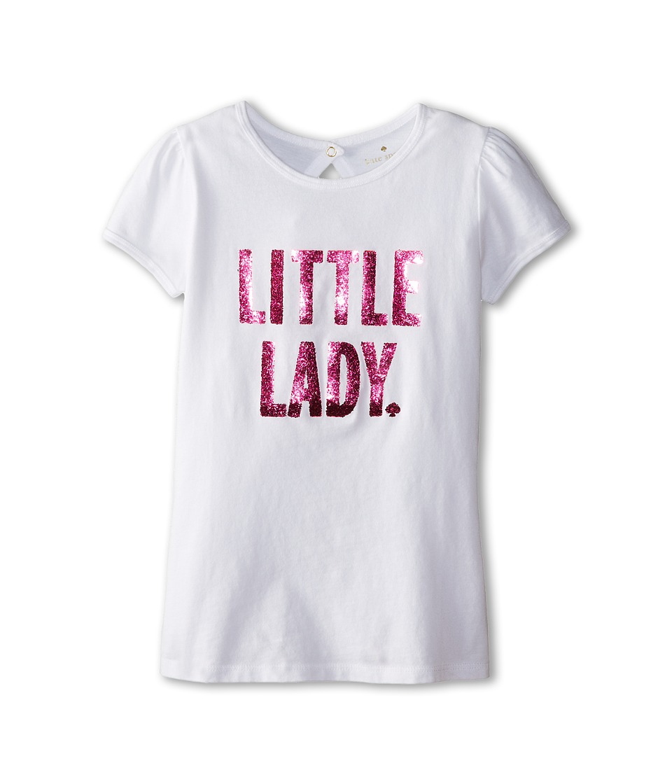 Kate Spade New York Kids - Little Lady Tee (Big Kids) (Fresh White) Girl's T Shirt