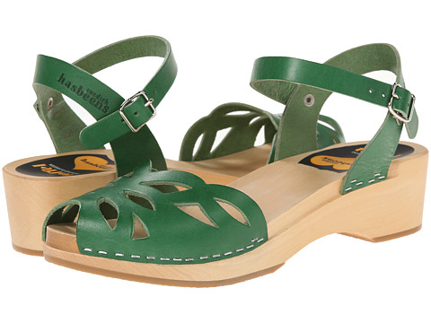 Swedish Hasbeens - Ornament Clog (Strong Green) Women's Sandals