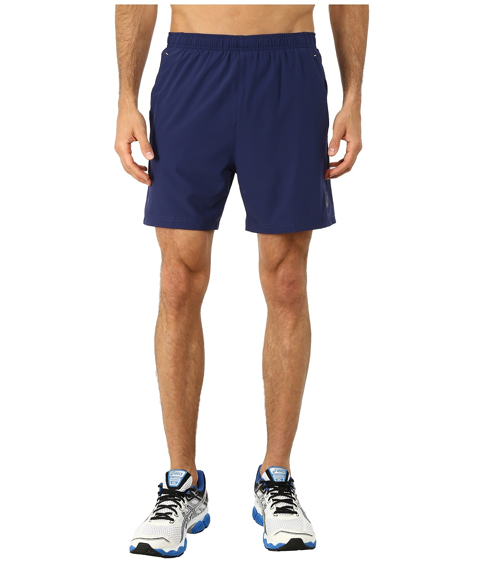 ASICS - 2-N-1 Woven Short 6 (Indigo Blue) Men's Shorts