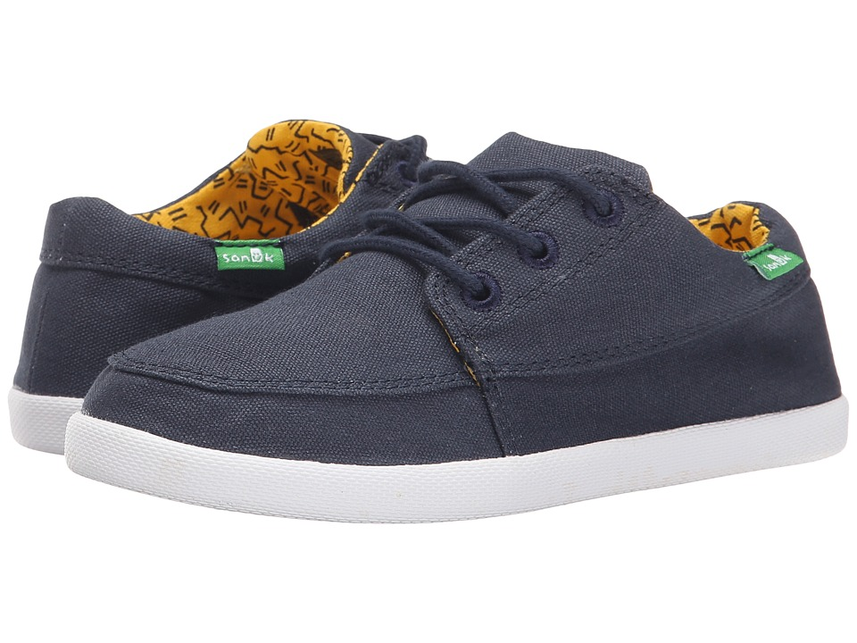 Sanuk Kids - Lil Cassius (Little Kid/Big Kid) (Navy) Boys Shoes