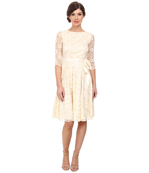 Tahari by ASL - Lisa - Q Dress (Ivory/Gold) Women