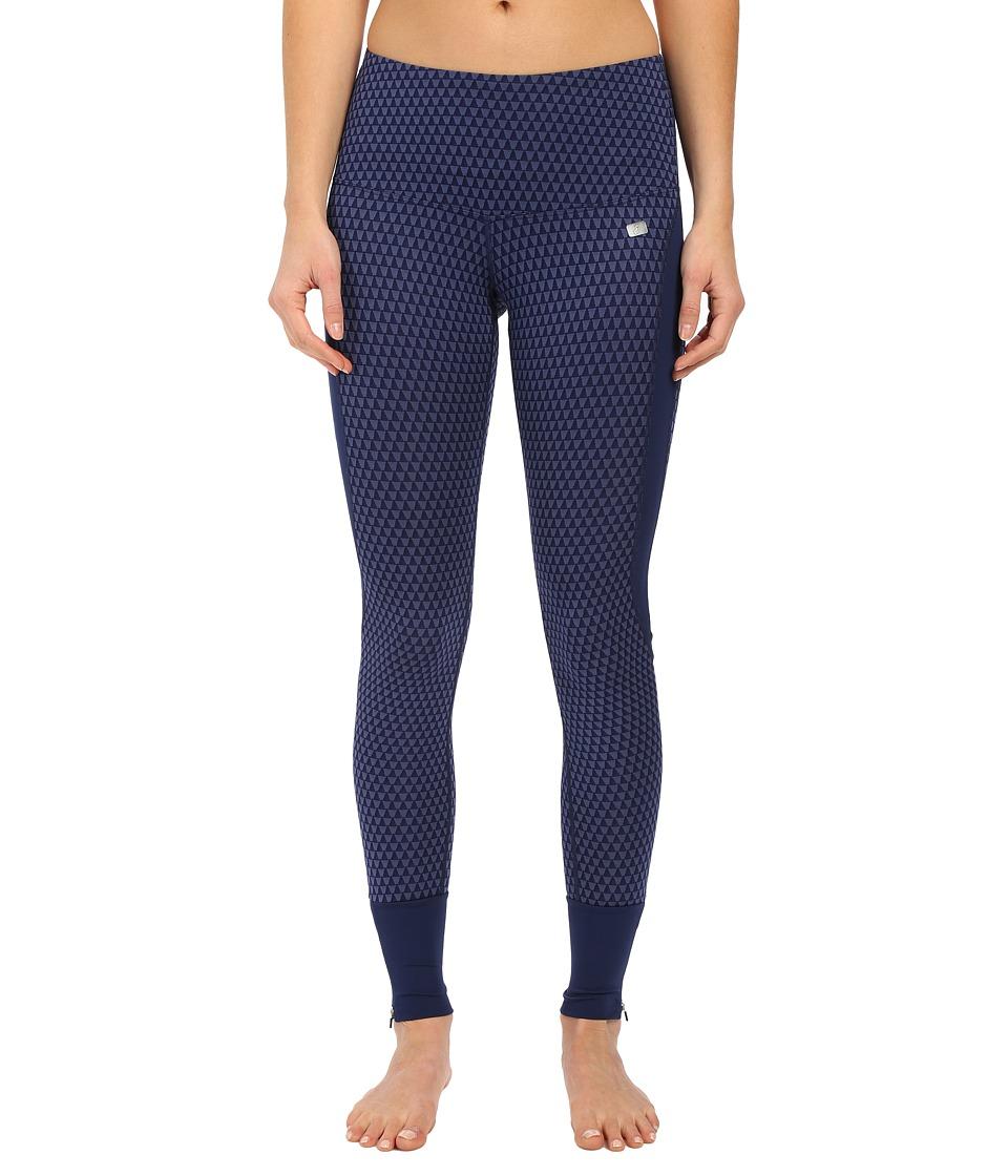 ASICS - Fit-Sana Jacquard Tights (Indigo Blue) Women's Casual Pants