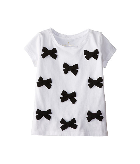 Kate Spade New York Kids - Trompe L'Oeil Bow Tee (Toddler/Little Kids) (Fresh White) Girl's T Shirt