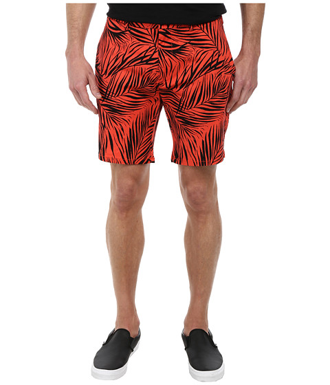Scotch & Soda - All-Over Print Twill Chino Shorts (Red/Black) Men