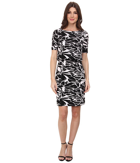 Tahari by ASL - Ana - P Dress (Black/White) Women's Dress