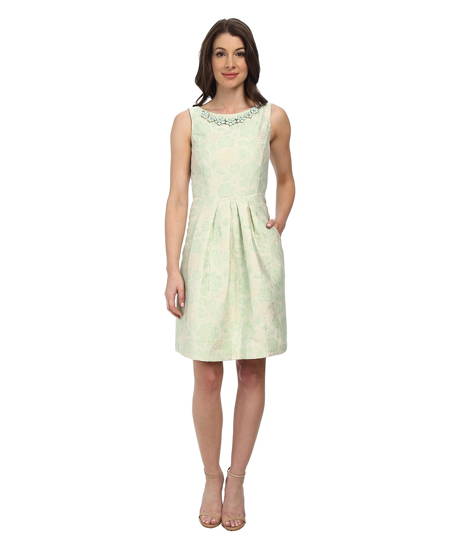 Tahari by ASL - Krissy - P Dress (Ivory/Mint/Gold) Women's Dress