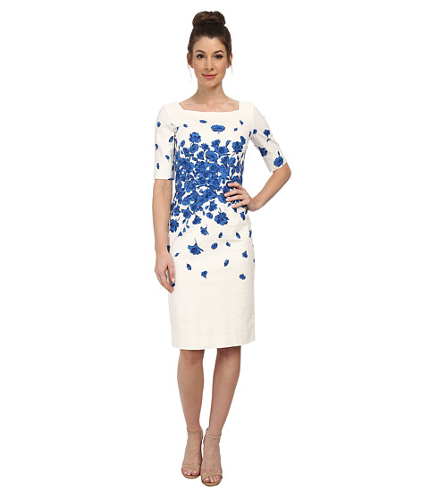 Tahari by ASL - Kaitlin - P Dress (Ivory/Royal) Women