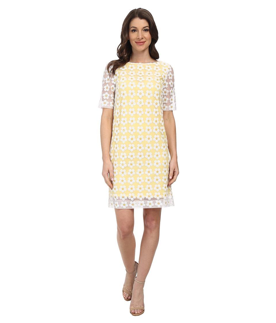 Tahari by ASL - Ceci - P Dress (White/Yellow) Women's Dress