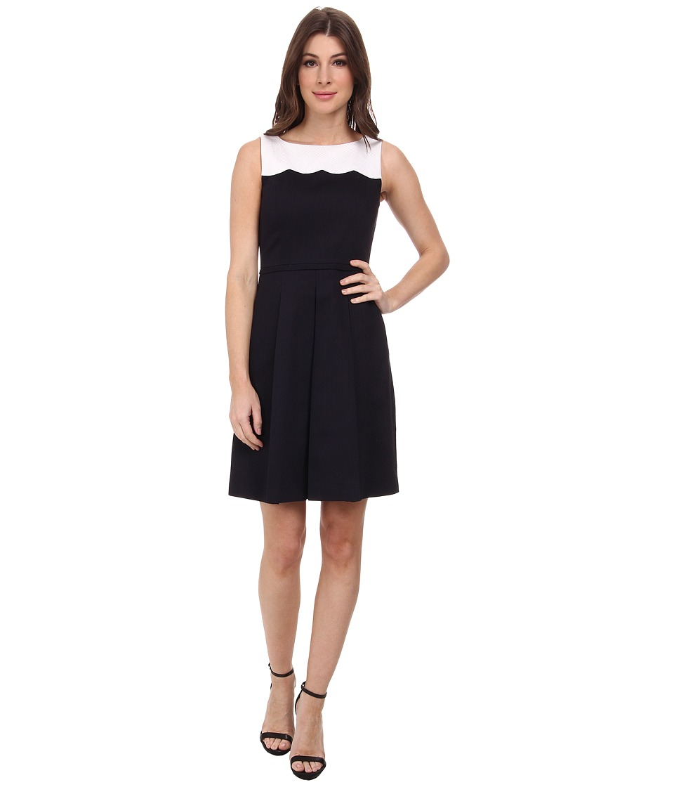 Tahari by ASL - Whitney - F Dress (White/Navy) Women's Dress