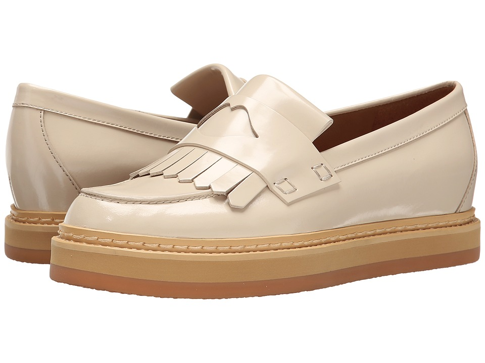 See by Chloe Fringed Moc On A Lug Sole (Cream) Women