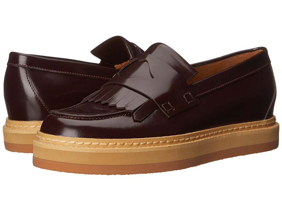 See by Chloe - Fringed Moc On A Lug Sole (Bordeaux) Women
