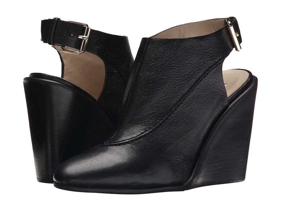 See by Chloe Grainy Leather Slingback On A Wedge (Black) Women