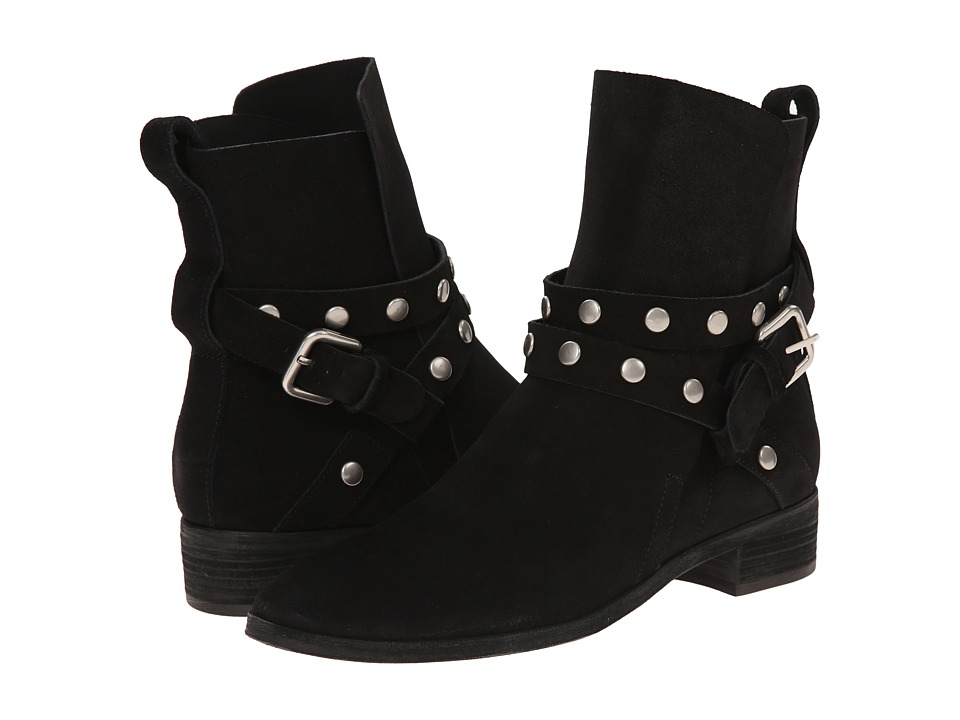 See by Chloe - Suede Wrap Bootie with Studs (Black) Women