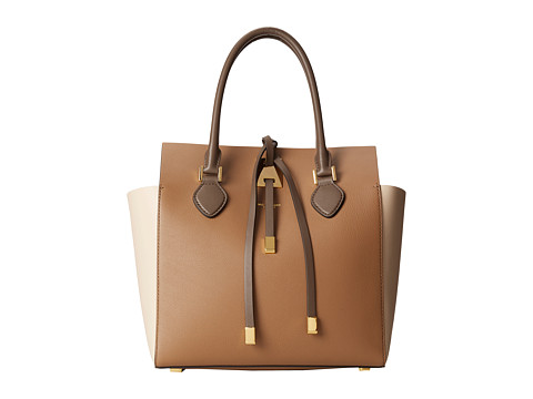 Michael Kors - Miranda Color Block Medium Tote (Desert) Tote Handbags