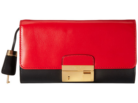 Michael Kors - Gia Clutch with Lock (Crimson 1) Clutch Handbags