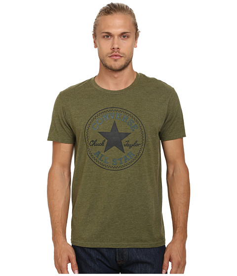 Converse - Core Chuck Tee (Olive Green Heather) Men