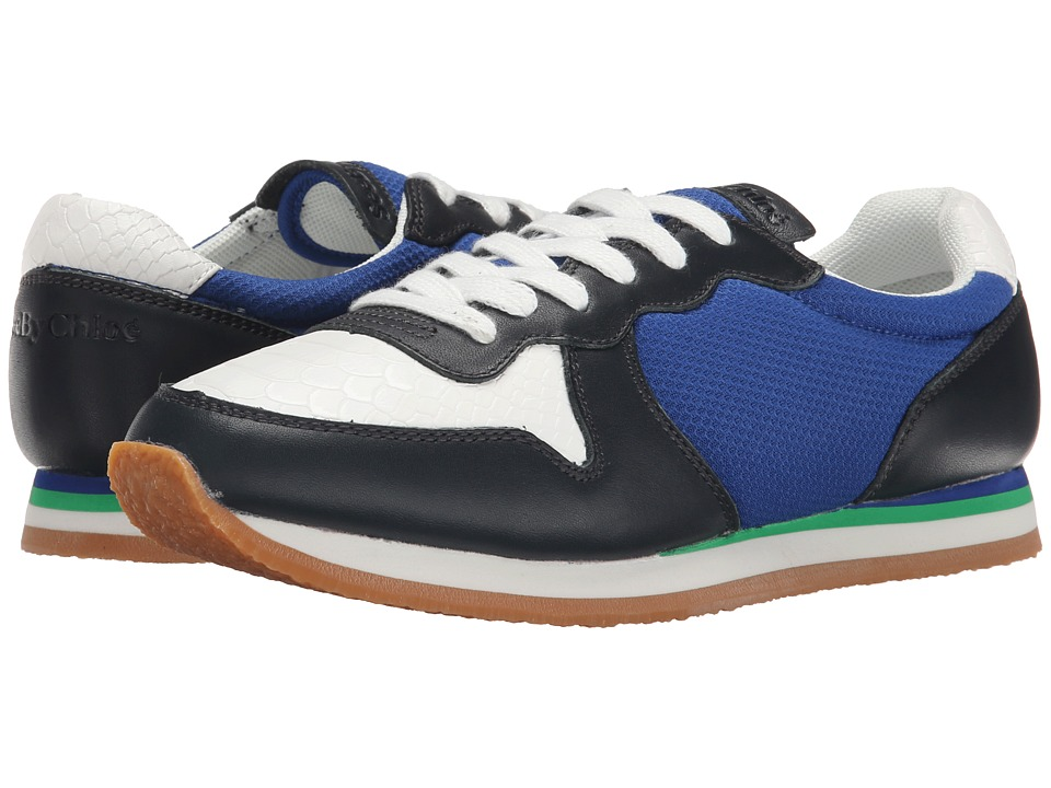 See by Chloe - Mixed Material Sneaker (Blue/White) Women