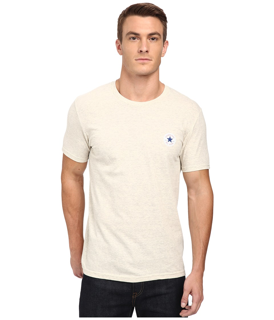 Converse - Core Left Chest Core Patch Short Sleeve Crew (Oatmeal Heather) Men
