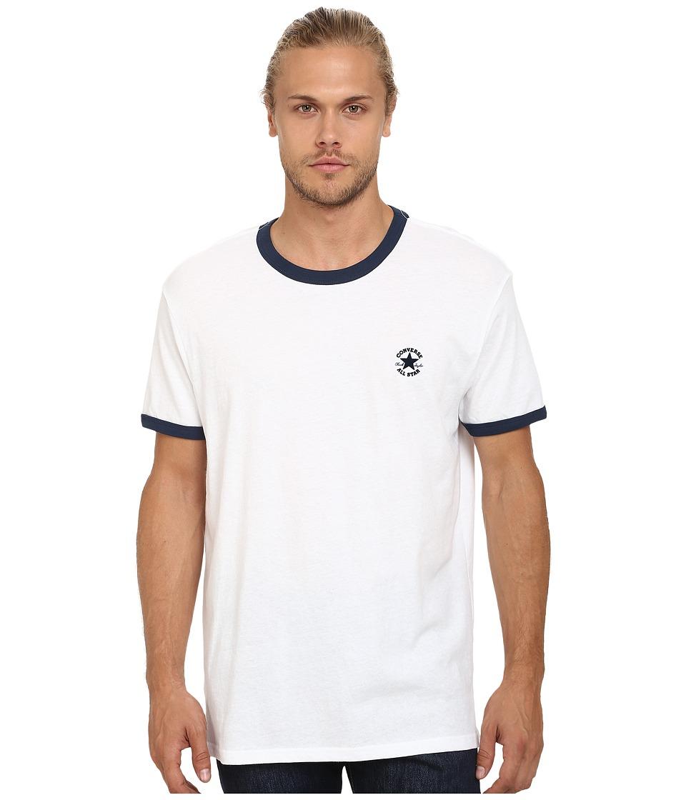 Converse - Chuck Premium Short Sleeve Ringer Tee (White) Men