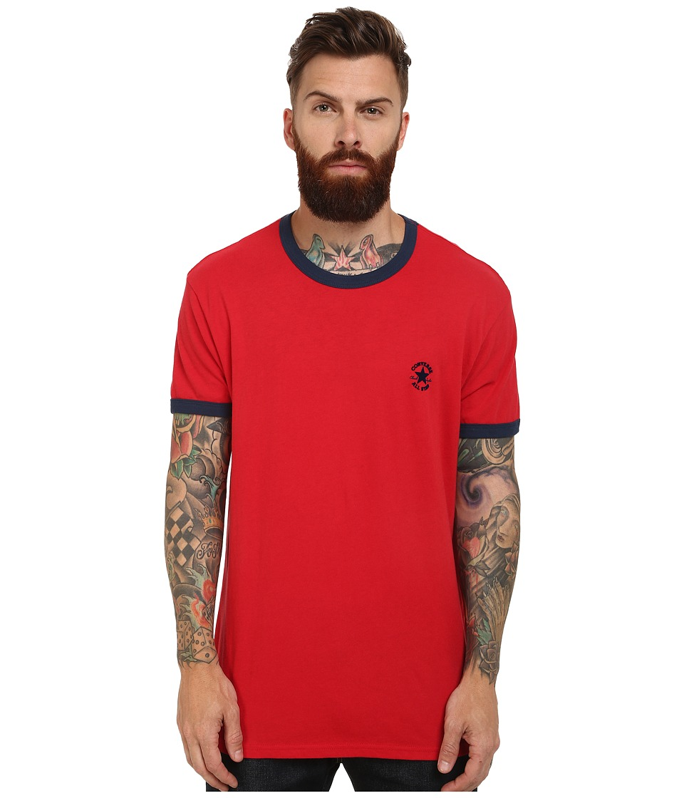 Converse - Chuck Premium Short Sleeve Ringer Tee (Red) Men's T Shirt