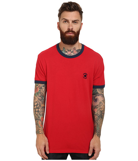 Converse - Chuck Premium Short Sleeve Ringer Tee (Red) Men