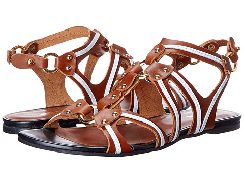 Just Cavalli - S13WP0079 (Leather Brown) Women's Sandals