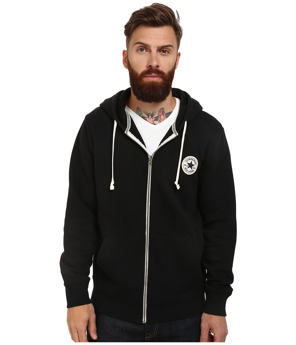 Converse - Core Full Zip Hoodie (Black) Men's Sweatshirt