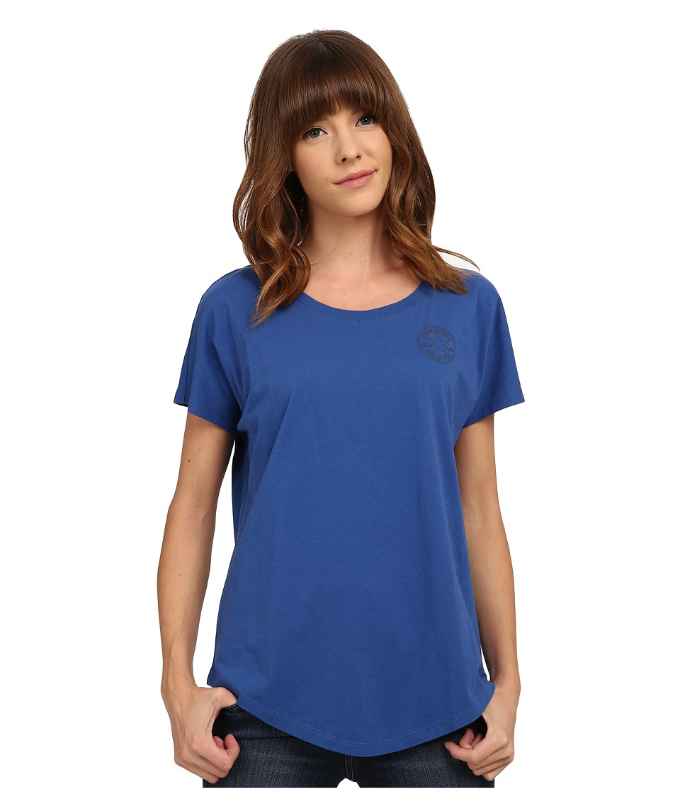 Converse - Core Plus Chuck Patch Cap Sleeve Scoop Tee (Royal) Women