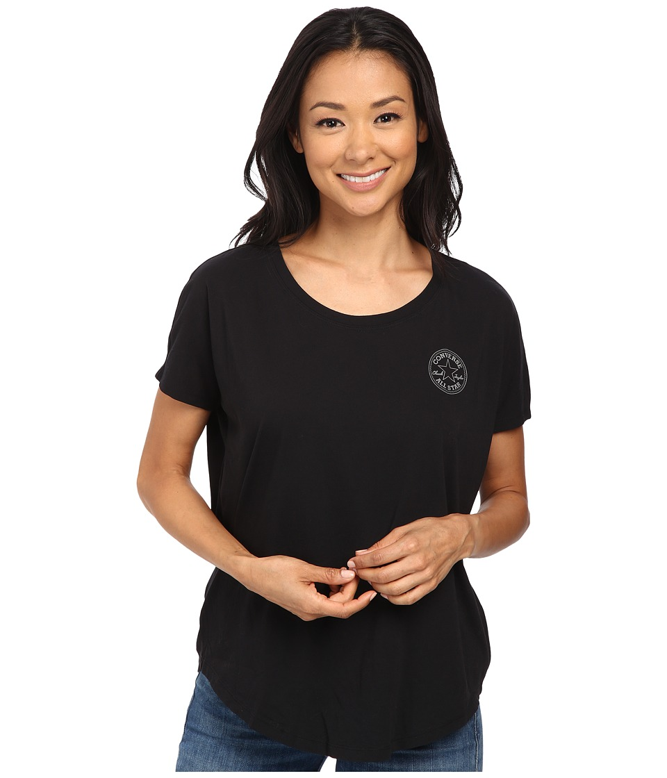 Converse - Core Plus Chuck Patch Cap Sleeve Scoop Tee (Black) Women's T Shirt