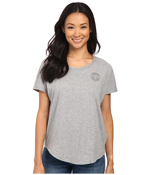 Converse - Core Plus Chuck Patch Cap Sleeve Scoop Tee (Grey Heather) Women